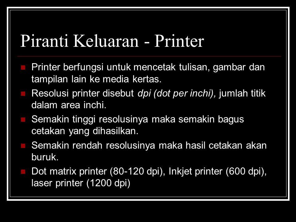 Piranti Keluaran - Printer