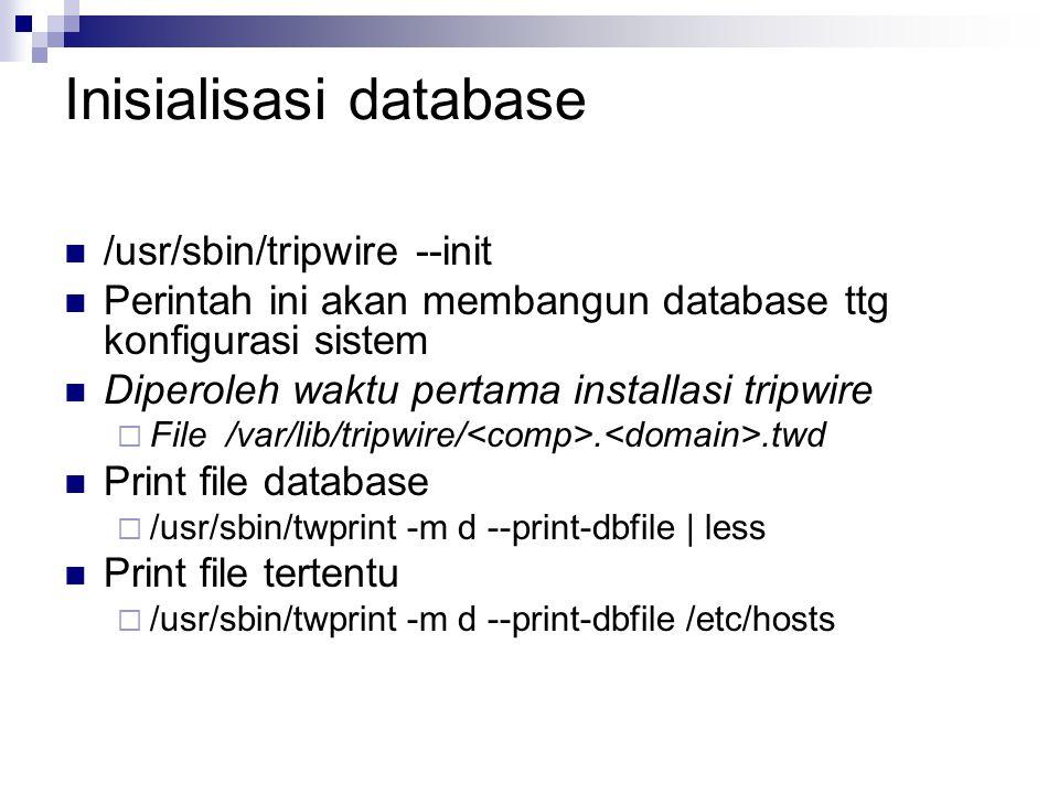 Inisialisasi database