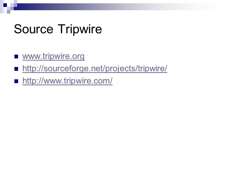 Source Tripwire www.tripwire.org