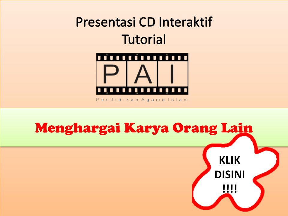 Presentasi CD Interaktif Tutorial