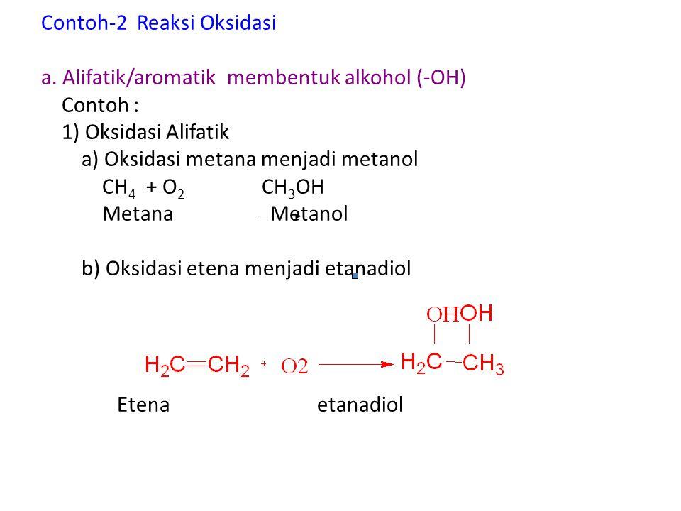 Contoh-2 Reaksi Oksidasi a