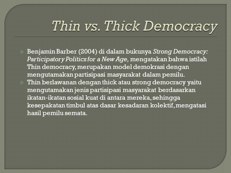 Thin vs. Thick Democracy