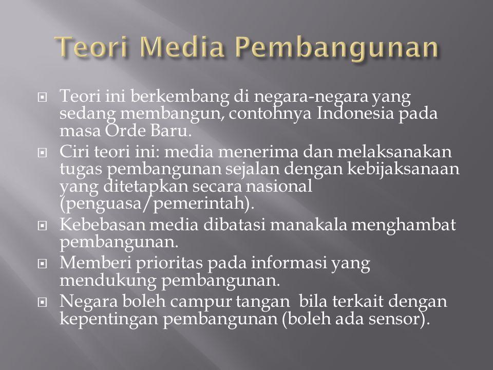 Teori Media Pembangunan