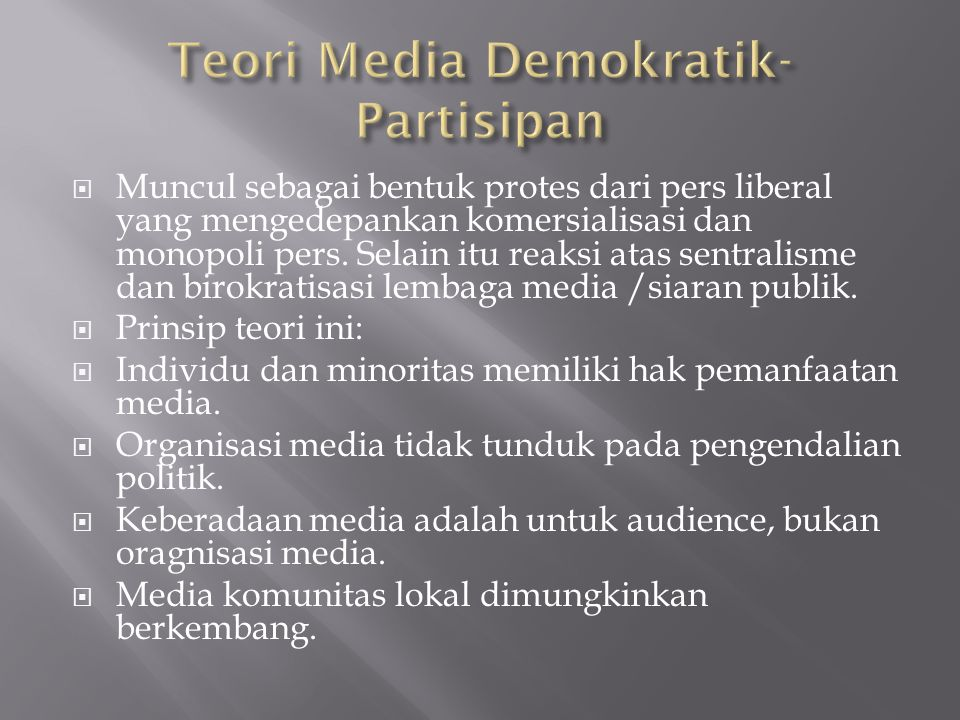 Teori Media Demokratik-Partisipan