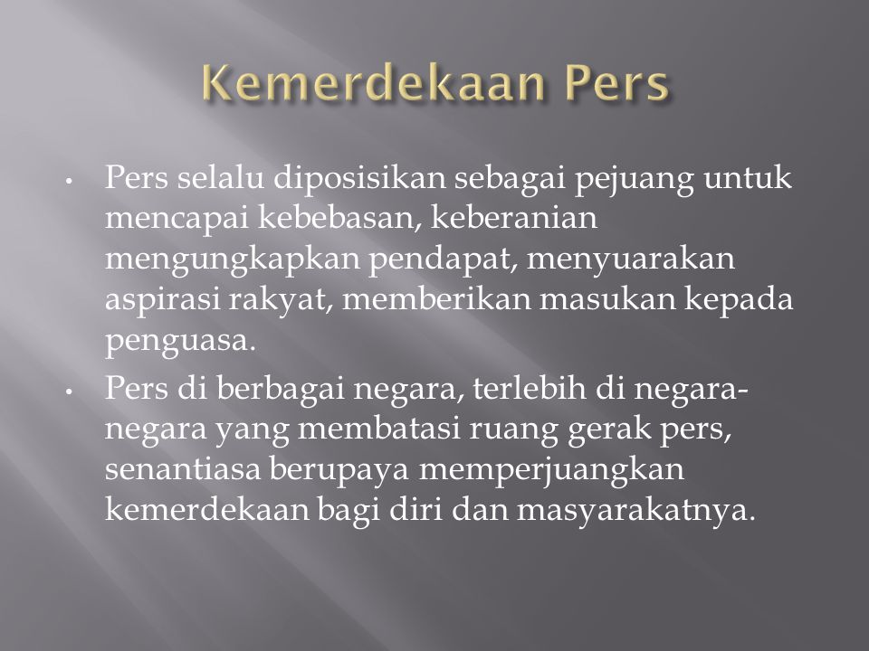 Kemerdekaan Pers