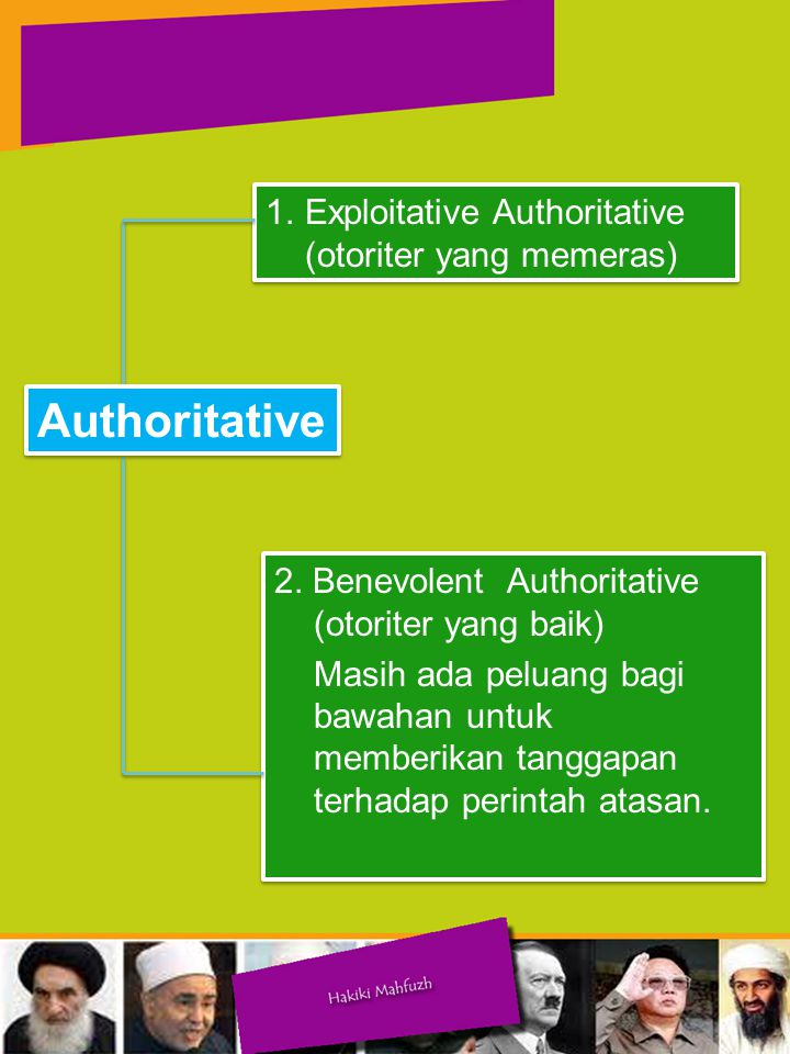 Authoritative Exploitative Authoritative (otoriter yang memeras)