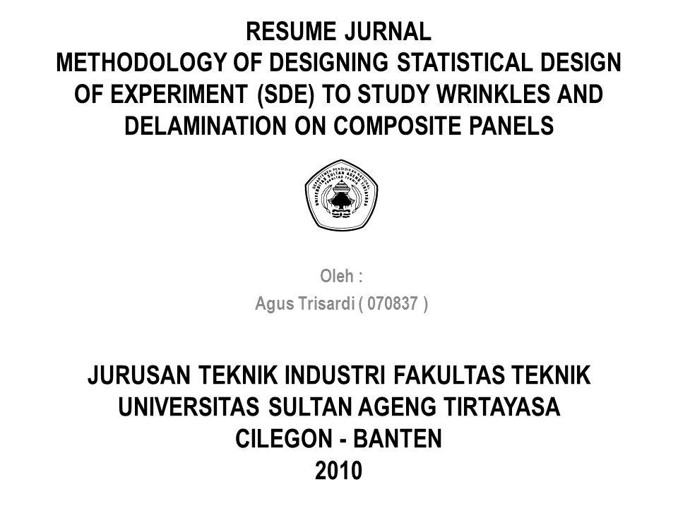 JURUSAN TEKNIK INDUSTRI FAKULTAS TEKNIK