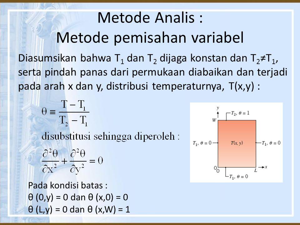 Metode Analis : Metode pemisahan variabel