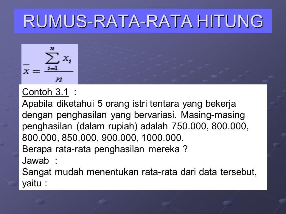 RUMUS-RATA-RATA HITUNG