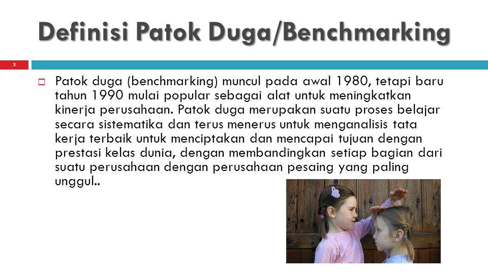 Definisi Patok Duga/Benchmarking