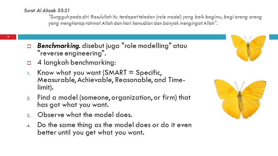 4 langkah benchmarking: