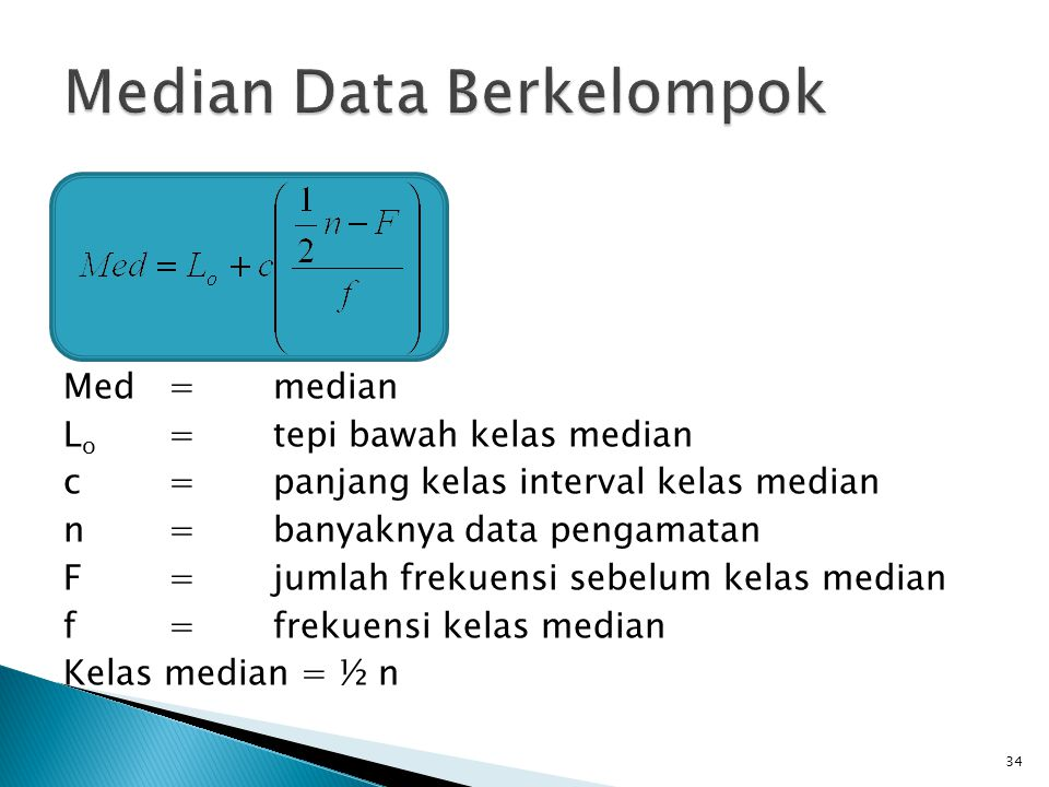 Median Data Berkelompok