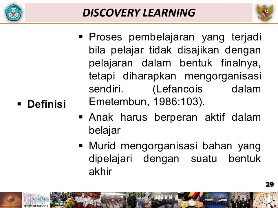 DISCOVERY LEARNING Definisi.