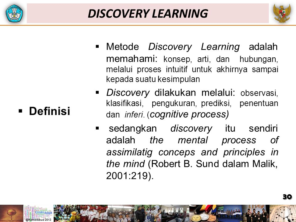DISCOVERY LEARNING Definisi