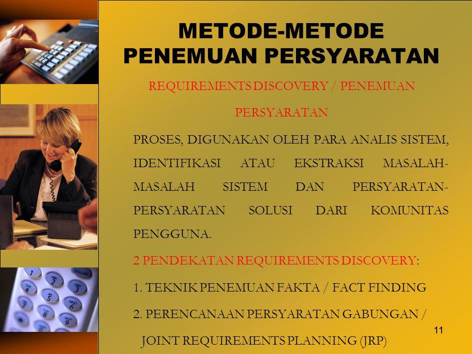 METODE-METODE PENEMUAN PERSYARATAN