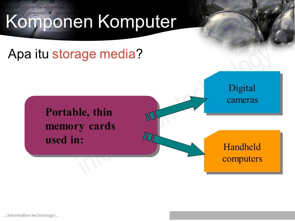 Komponen Komputer Apa itu storage media