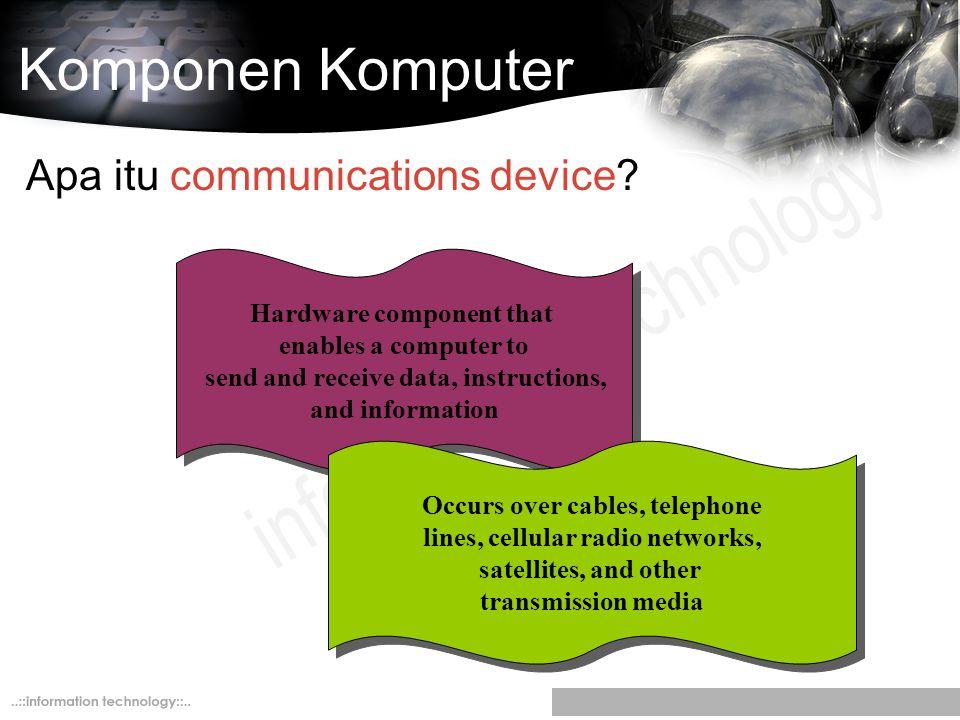 Komponen Komputer Apa itu communications device