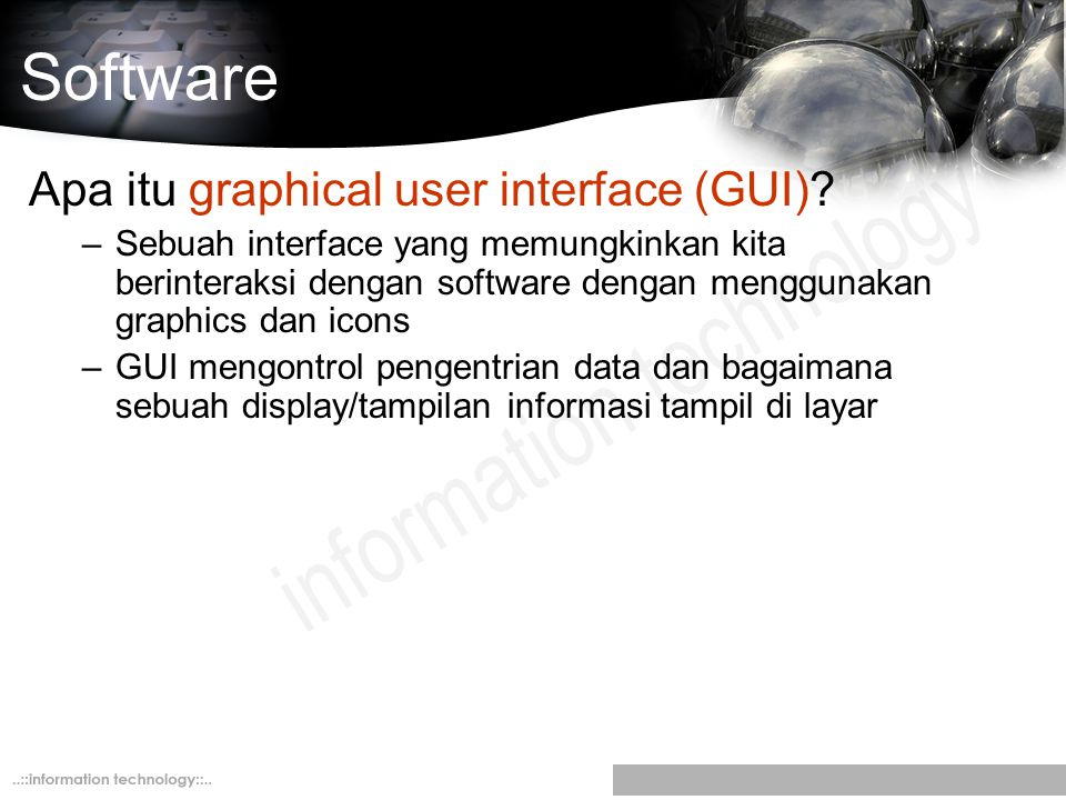Software Apa itu graphical user interface (GUI)