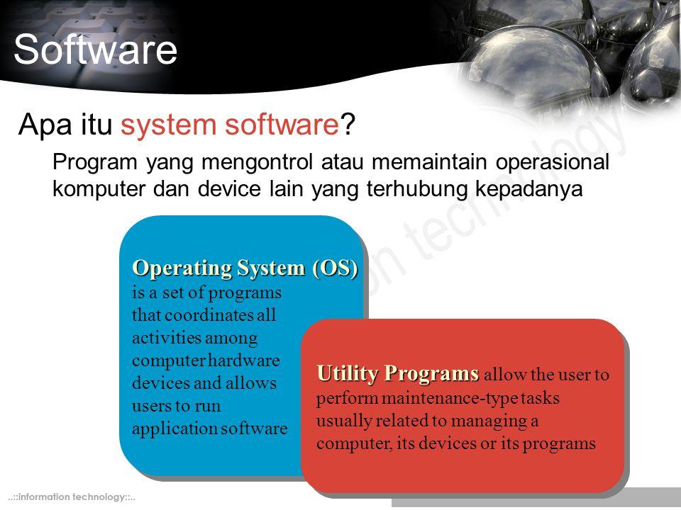 Software Apa itu system software