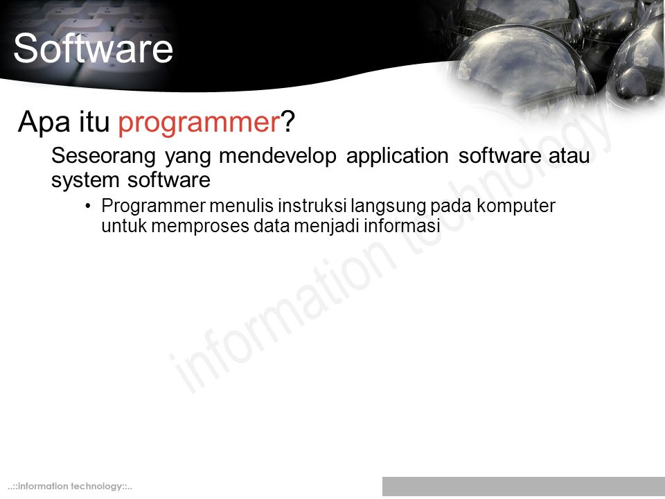 Software Apa itu programmer