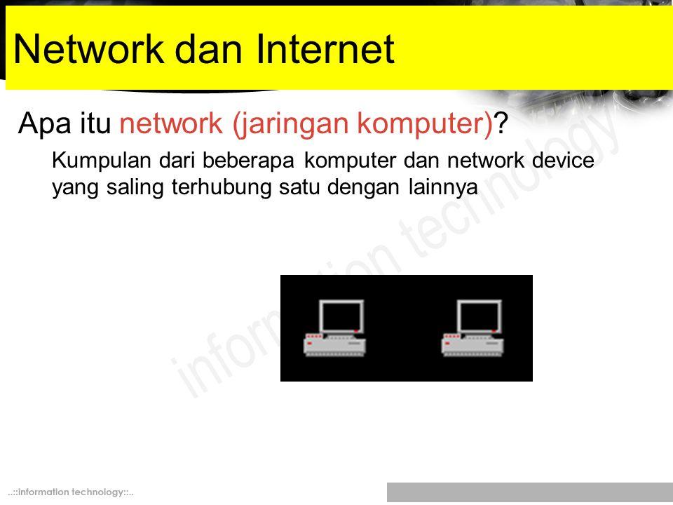 Network dan Internet Apa itu network (jaringan komputer)