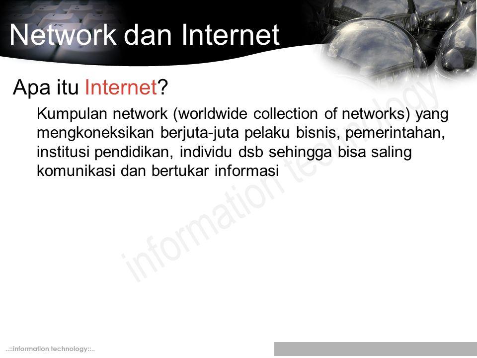 Network dan Internet Apa itu Internet