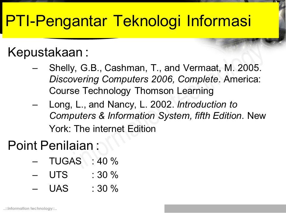 PTI-Pengantar Teknologi Informasi