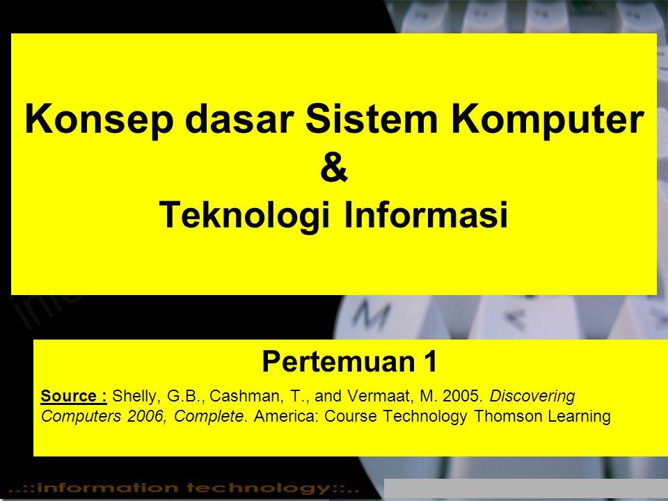 Konsep dasar Sistem Komputer & Teknologi Informasi