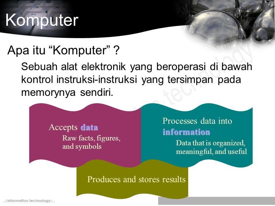 Komputer Apa itu Komputer