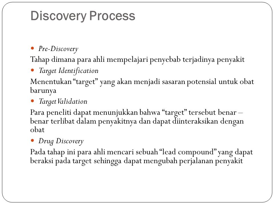 Discovery Process Pre-Discovery