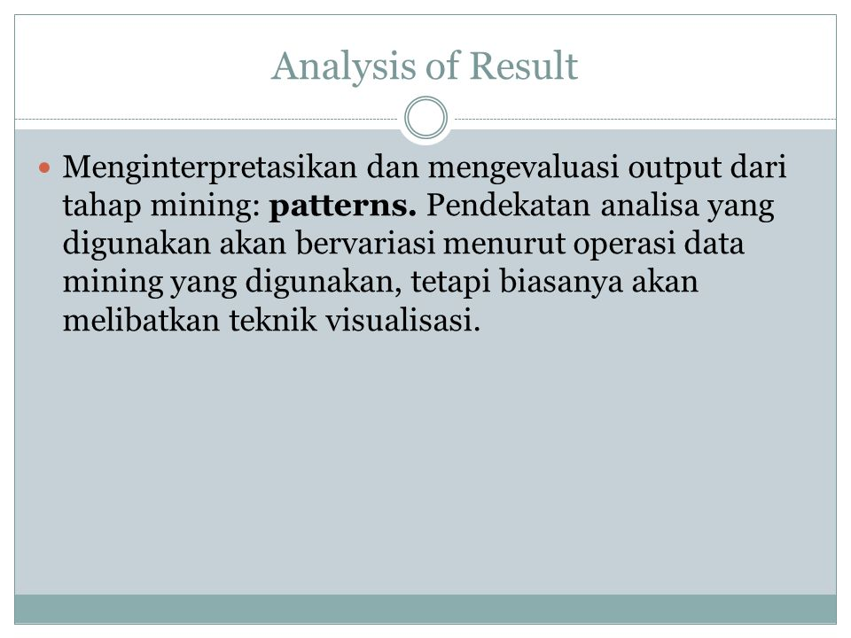 Analysis of Result