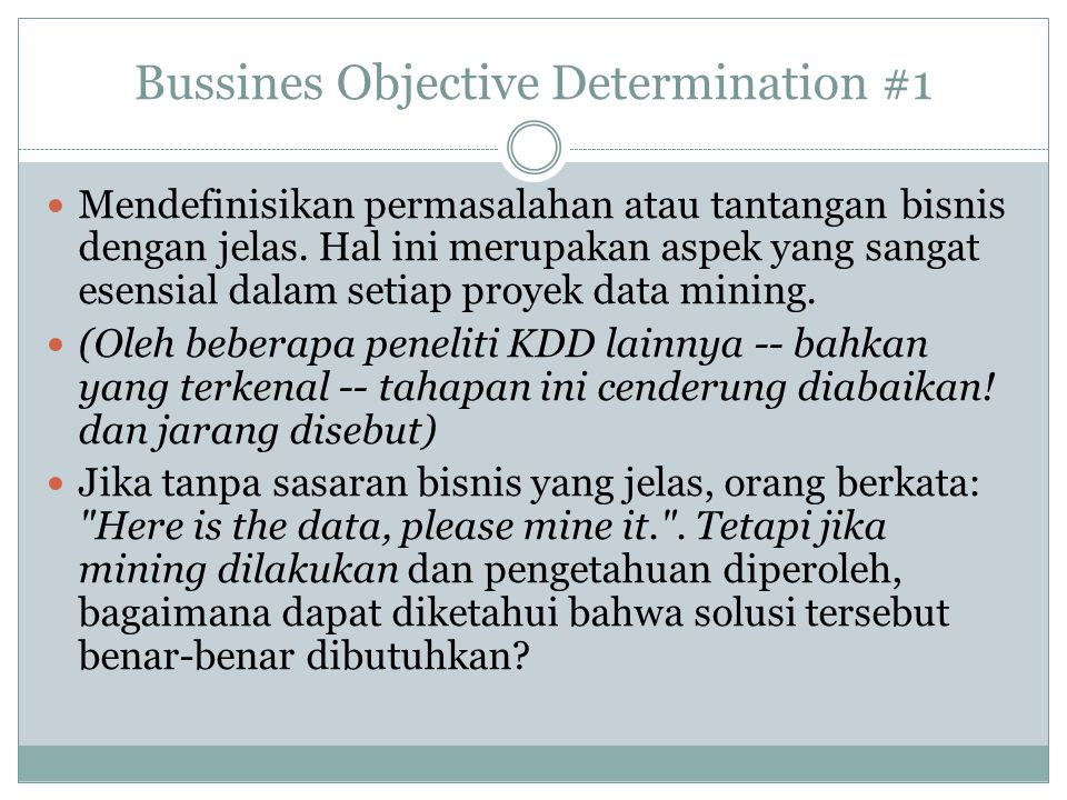 Bussines Objective Determination #1