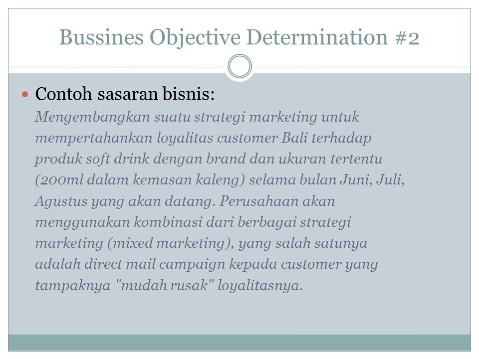 Bussines Objective Determination #2