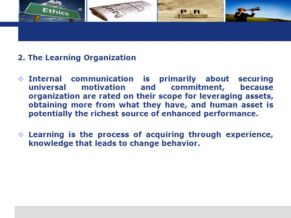 2. The Learning Organization