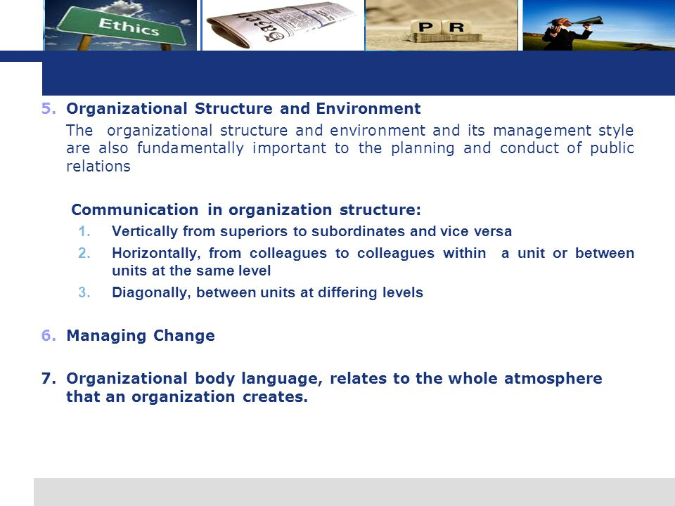 Organizational Structure and Environment