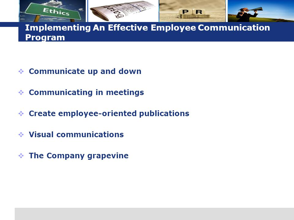Implementing An Effective Employee Communication Program