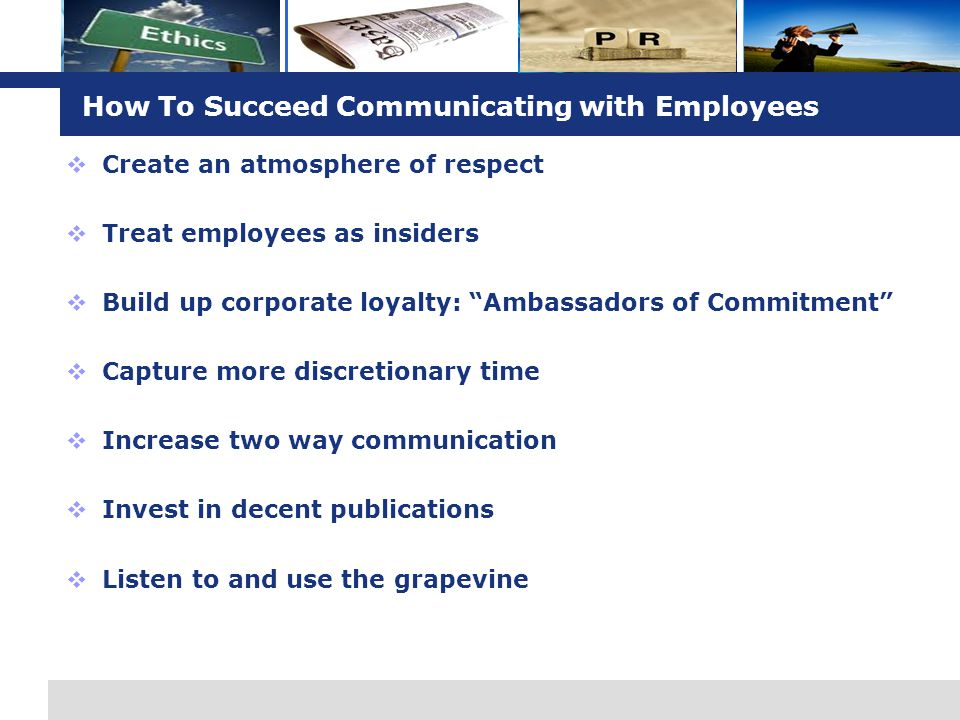 How To Succeed Communicating with Employees