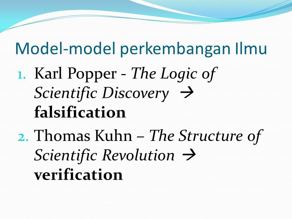 Model-model perkembangan Ilmu