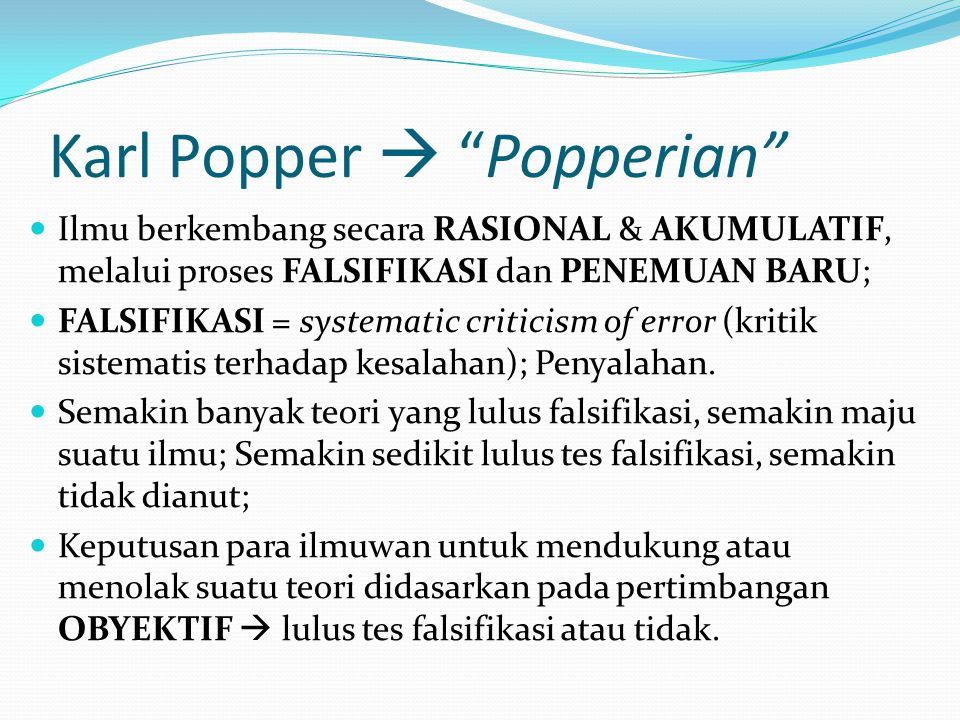 Karl Popper  Popperian