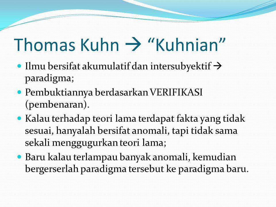 Thomas Kuhn  Kuhnian