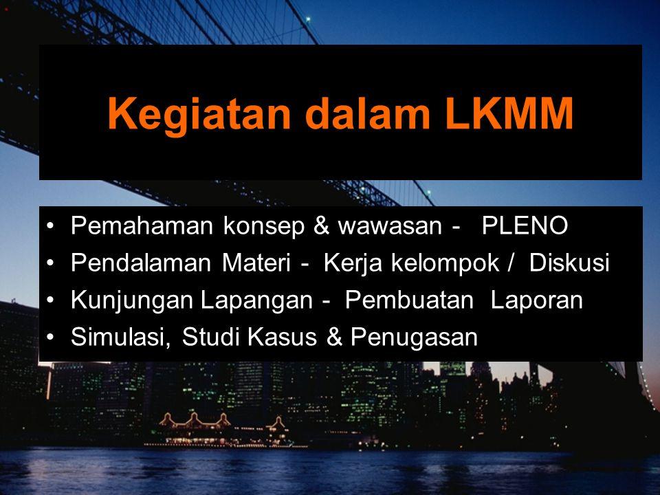 Kegiatan dalam LKMM Pemahaman konsep & wawasan - PLENO