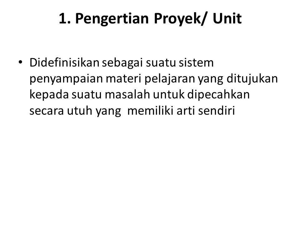 1. Pengertian Proyek/ Unit