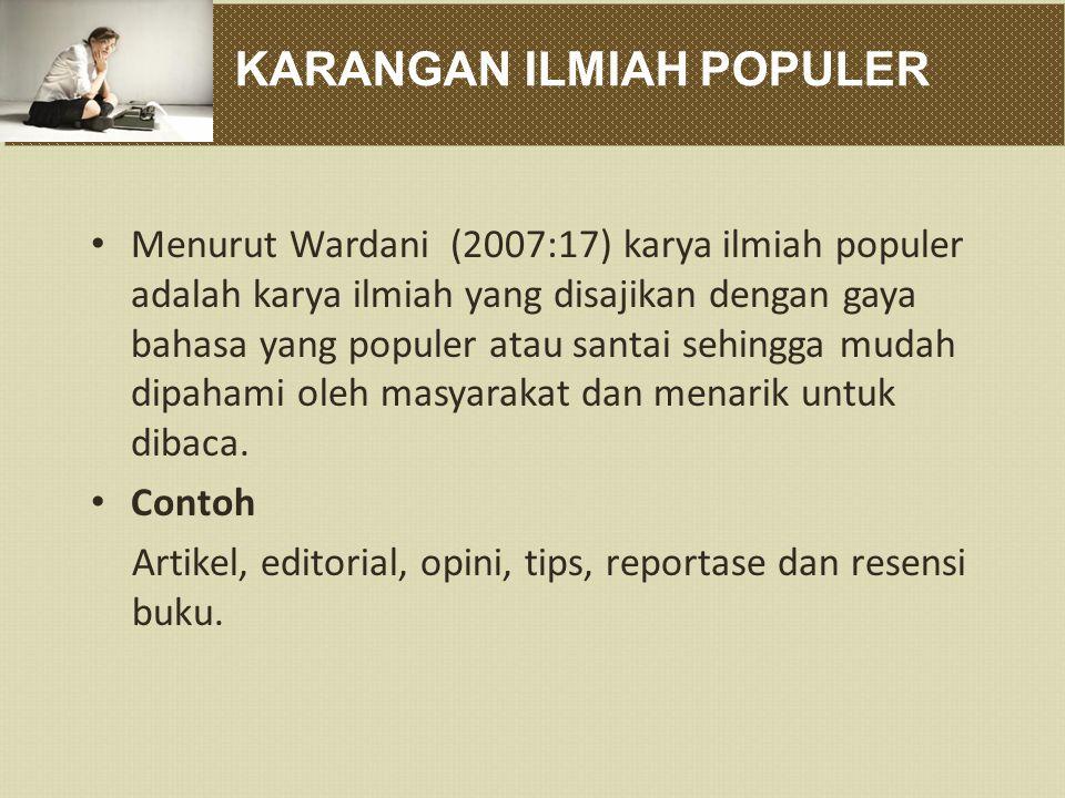 KARANGAN ILMIAH POPULER