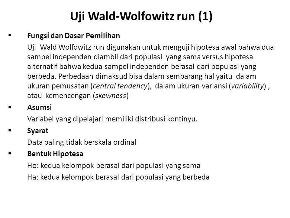 Uji Wald-Wolfowitz run (1)