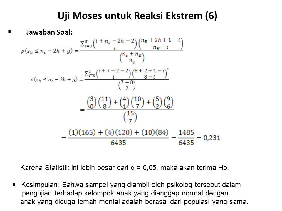 Uji Moses untuk Reaksi Ekstrem (6)
