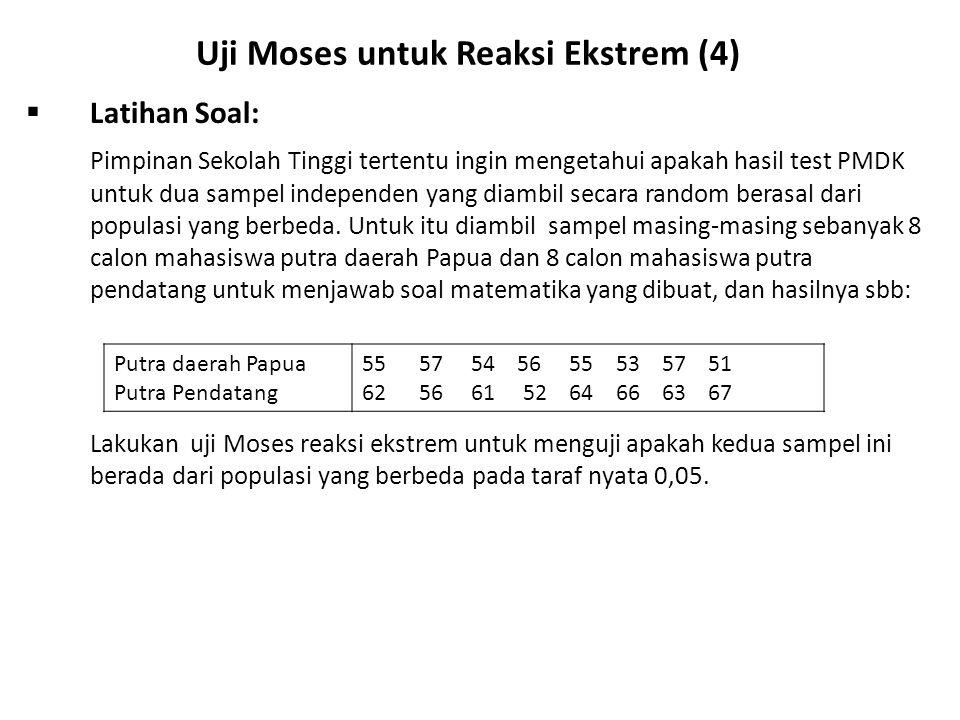 Uji Moses untuk Reaksi Ekstrem (4)