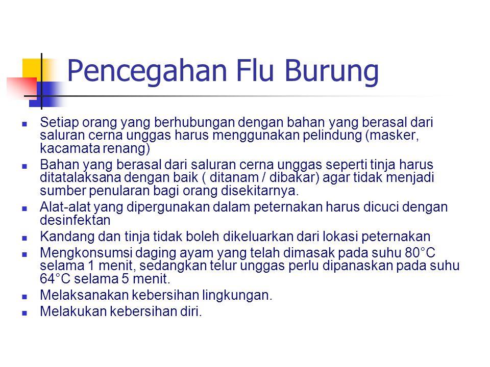 Pencegahan Flu Burung