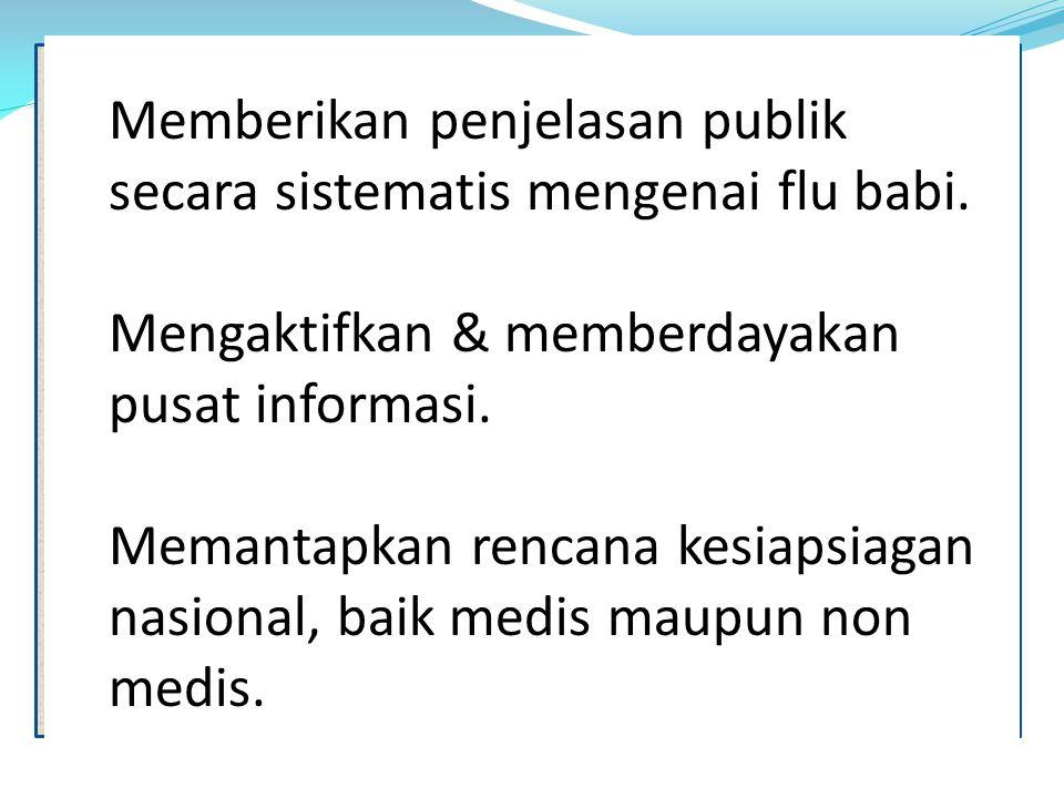 Mengaktifkan & memberdayakan pusat informasi.