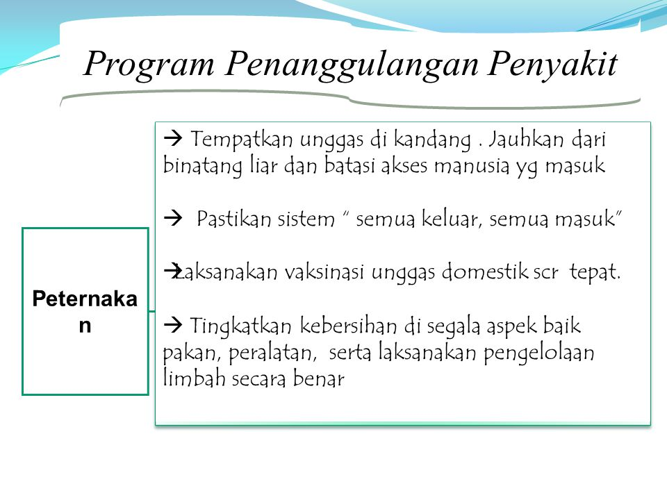 Program Penanggulangan Penyakit