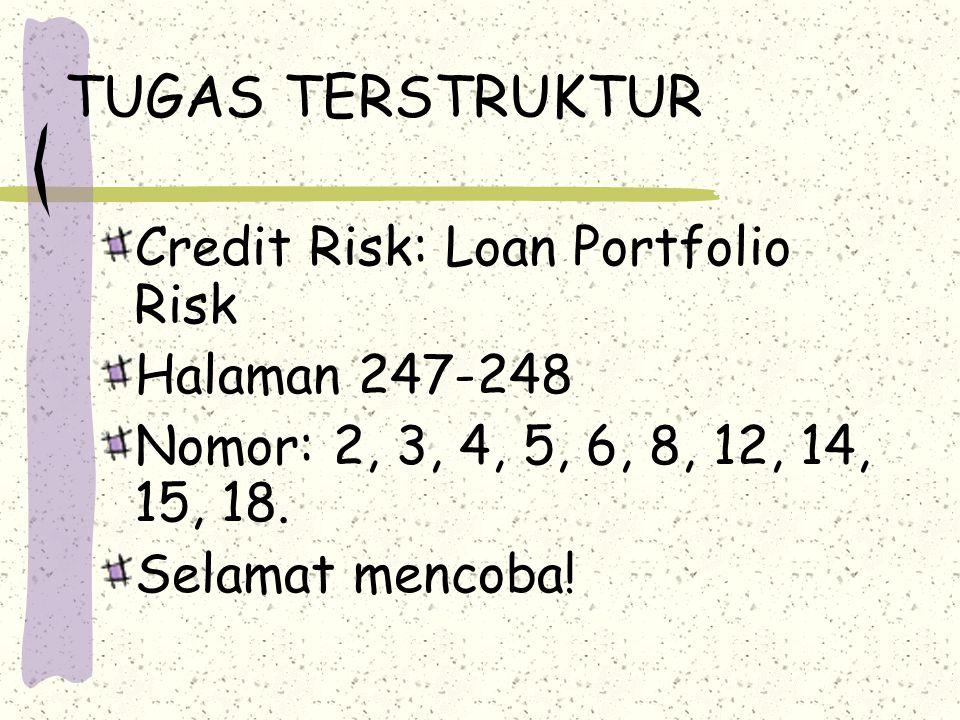 TUGAS TERSTRUKTUR Credit Risk: Loan Portfolio Risk Halaman 247-248